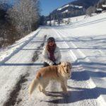 vacanza sulla neve; neve; cane